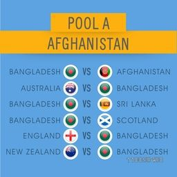 World Cup 2015 Pool A, Afghanistan Cricket match schedule versus other countries.