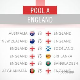 Cricket World Cup 2015 match schedule of England.
