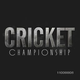 3D Metallic Text Design of Cricket Championship, Can be used as Poster, Banner or Flyer design.
