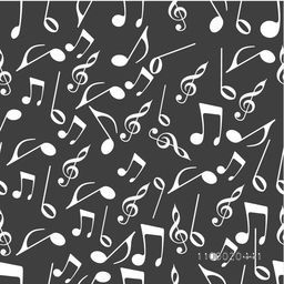 Seamless pattern with musical notes.
