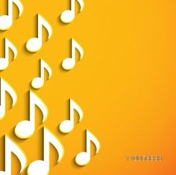 Musical notes on seamless background.