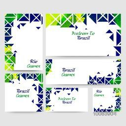 Creative Social Media Banner set with abstract design for Rio or Brazil Games, Summer Olympics concept.