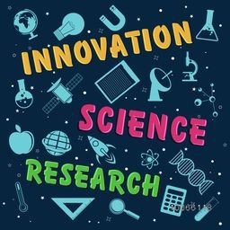 Creative poster, banner or flyer design with various elements of science on blue background.