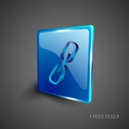 Glossy 3D web 2.0 link or connect symbol icon set. EPS 10.