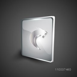 Glossy 3D web 2.0 right arrow symbol icon set. EPS 10.