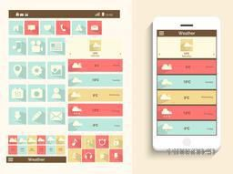 A complete presentation of user interface for mobile with web, social media ,musical icons and smartphone presentation.