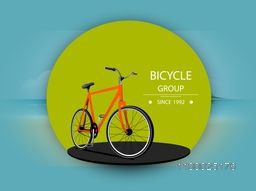 Vector illustration of a bicycle on abstract nature background.