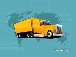 Vector illustration of a Green Transportation Classic Truck or Loader Jeep.