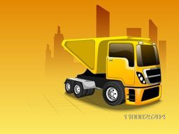 Vector illustration of a Transportation Classic Truck or Loader Jeep with loaded containers.