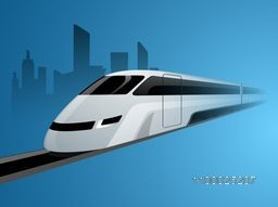 Vector illustration of a modern train.