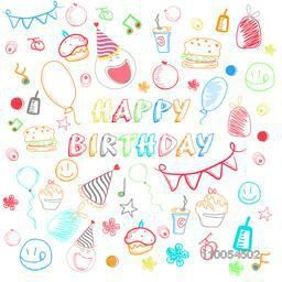 Colorful stylish seamless pattern for Happy Birthday.