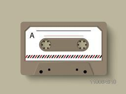 Illustration of a radio cassette.