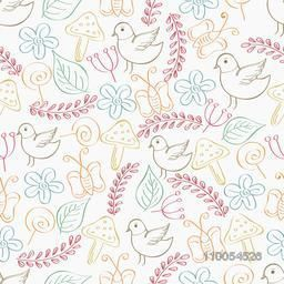 Retro seamless pattern or collection of doodles.