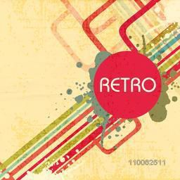 Abstract retro grungy background with colorful creative lines.