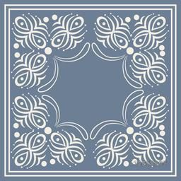 Stylish blank frame decorated with beautiful floral pattern.