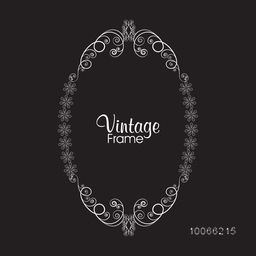 Creative vintage frame decorated with beautiful floral design.