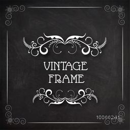 Stylish floral design decorated beautiful vintage frame.