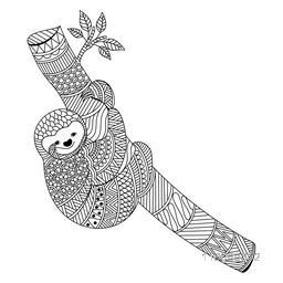 Creative ethnic doodle style illustration of Koala Bear climbing on the branch. Hand drawn design for adult anti stress coloring page.