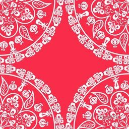 Beautiful floral pattern on pink background.