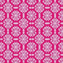 Seamless pattern with floral design on pink background.