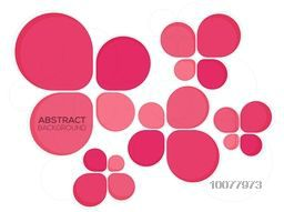 Beautiful pink Abstract design decorated white background.
