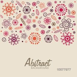 Creative colorful floral design decorated abstract background.