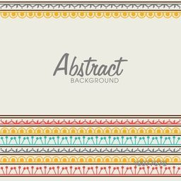Floral design decorated colorful abstract background.