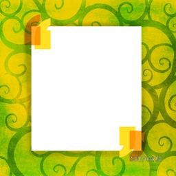 Blank white frame for your message on floral design decorated background.