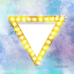 Shiny elegant triangle with space for your message on colorful grungy background.