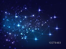 Elegant shiny blue hi-tech abstract background.