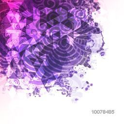 Creative abstract background with floral design and splash.