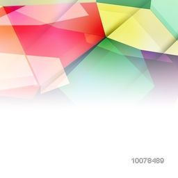 Colorful abstract design decorated glossy background.