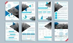 Creative brochure template set, cover design and flyer layout with space for your images and text. Vector illustration for Business concept.
