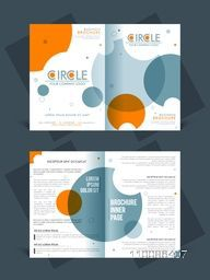 Two page brochure, template or flyer layout for Business reports and presentation.