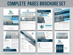 Complete brochure set, template design, cover design and flyer layout. Creative illustration with space for your images. Business concept.