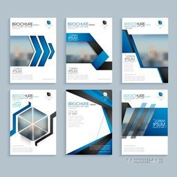 Creative business brochure set, Corporate template layout, Professional flyer design with space to add images.