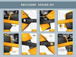 Creative professional brochure set, Template or flyer design layout with front, inner and back pages presentation for Business concept.