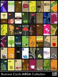 Abstract business cards in different style and pattern.Vector eps 10 format.
