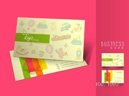 Creative stylish business card or visiting card design for Toy Shop.
