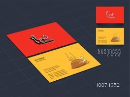 Creative business card or visiting card design for Restaurant.