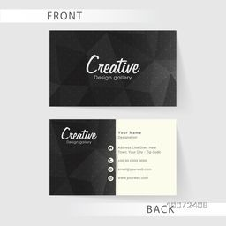 Two sided presentation of professional business or visiting card design for Creative Industry.