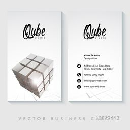 Stylish professional business card set with cube for Creative Industry.