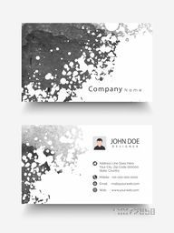 Creative horizontal business card, name card or visiting card set with space for your image and company information.