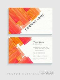 Abstract horizontal business card, name card or visiting card set with space for your company information.