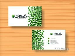 Creative horizontal business card or visiting card set for your business, company and corporation.