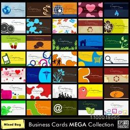 A Set of 60 abstract  Business Cards  in different style. Vector illustration EPS 10