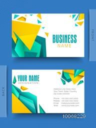 Abstract creative business or visiting card design for your company.