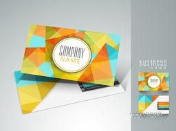 Colorful abstract business card design with front and back side presentation for your company.