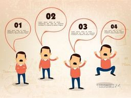 Creative illustration of businessman in different pose, Perfect for your business presentation and publication.