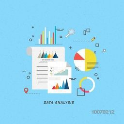 Set of creative statistical infographic elements for your Business Data Analysis.